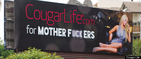 cougar dating billboard draws controversy