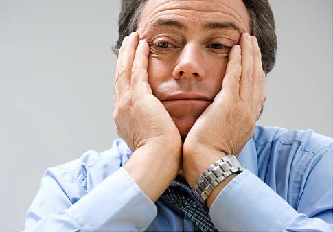 Man looking fed up   Original Filename: 57158971.jpg
